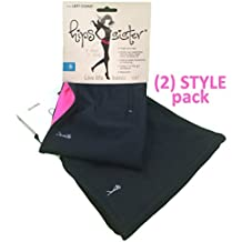 """Running Belt Pouch - 2 Style Pack for Workout and Travel - Includes Reversible 5"""" Wide Black Pink East Coast Style and 7"""" Wide Global Style Waist Money Belt Fanny Pack - by HipS-sister"""