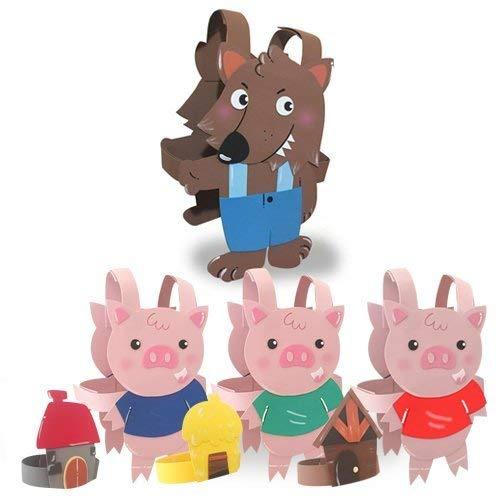 PACK DISFRACES LOS TRES CERDITOS para niños: Amazon.es: Handmade