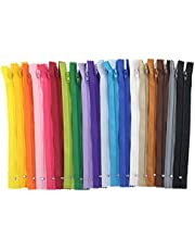 Nylon Coil Zippers, Bantoye Colorful Sewing Zippers Supplies for Tailor Sewing Crafts, 20 Assorted Colors