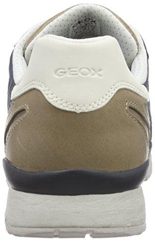 Geox Mens U Sandro B Abx Mode Gymnastiksko Marinblå Mocka / Nylon