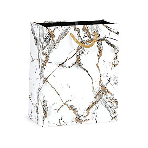 (NW Marble Gloss Gift Bags - Cub Size - 8x4x10in. - 100 Pack)