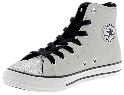 Converse All Star Hi Side Zip Leather - 655161c - Argento