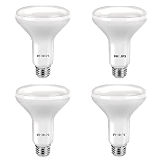 Philips LED 465203 BC9.5BR30/AMB/927/DIM 120V-BR30 65W CRI90 65 Watt Equivalent Dimmable Bright BR30 LED Bulb, 4-Pack, Soft White, 3 Count