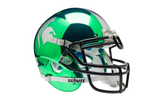 NCAA Michigan State Spartans Authentic XP Football Helmet, Chrome/Kelly by Schutt
