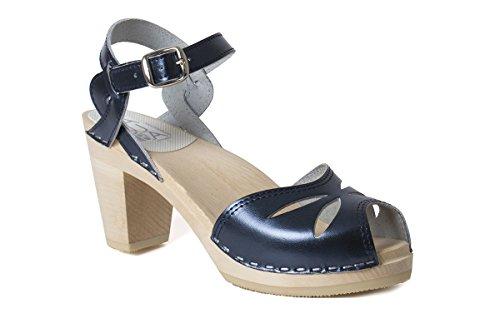 Dark Rio Clog Womens Metallic Sandal Blue Maguba IqO4AwA