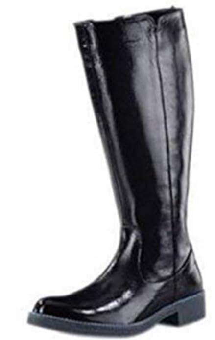 Schwarz Stiefel Damen Haupteingang In Aus Lackleder XOkPuZi