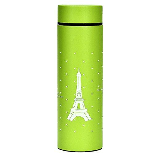 Laimeng, Portable Sports Unbreakable 260ml Stainless Steel Water Bottle (Green)