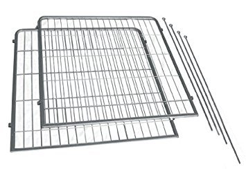 Precision Pet 2-Pack Courtyard Kennel Add-A-Panel with Stakes, 36 by 38-Inch, Silver Crackle by Petmate