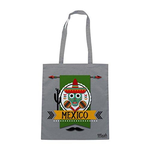 Borsa VIVA MEXICO - Grigio - FAMOSI by Mush Dress Your Style