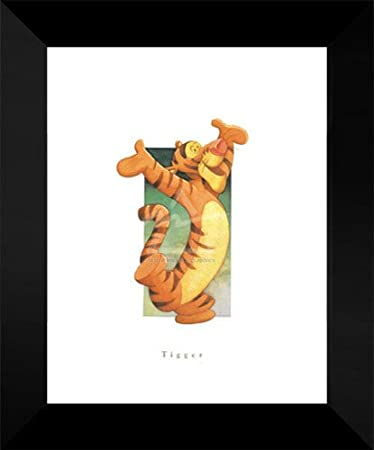 amazon com disney framed art print 18x15 tigger artwork posters