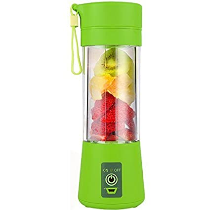 shopper 52 Plastic Mini Portable USB Rechargeable Electric Juicer Blender Mixer (380 ml, Multicolour)
