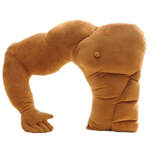 SeaISee Muscle Man Body Arm Plush Cotton Pillow 58cm×48cm