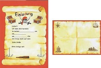24 Teiliges Einladungsset PIRATEN In DIN A5 Von Döll Verlag // 35233 /