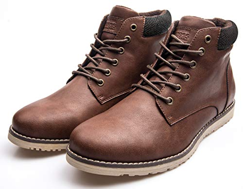 Fashion Boots XPER up Combat Brown Lace Men's 3 Motorcycle Ankle Winter Brown qpzHOE