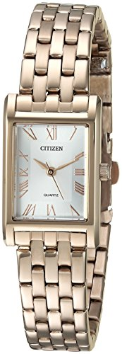 Citizen Women's Quartz Stainless Steel Casual Watch, Color:Two Tone (Model: EJ6123-56A) (Watch Ladies 56a)