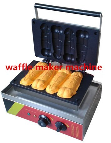 Comercial Eléctrico Caracol en forma de pene máquina para hacer gofres acero inoxidable waflle Panificadora no-stick CE certificación 220 V - 240 V: ...