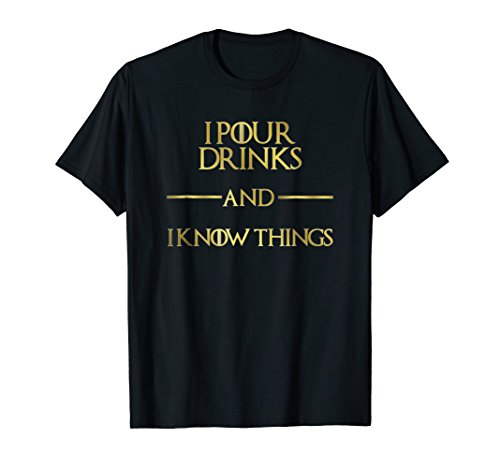 Mens Funny Bartender Tshirt for Women / Men