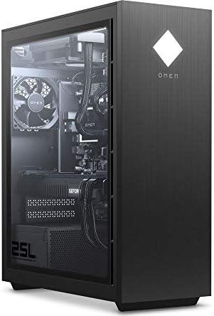 HP OMEN 25L GT12 Gaming Desktop, Intel Core i7-11700F Octa-Core Processor, GeForce RTX 3060 12GB Graphics, 64GB 3600MHz RGB RAM, 2TB SSD+8TB HDD, RGB LED Lighting, Windows 10 Home, KKE 1080P Webcam