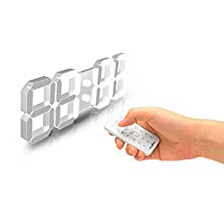 FLAITO 3D LED Multi-Functional Remote Control Digital Wall Clock
