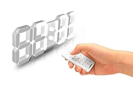 flaito 3d led mando a distancia multifuncional Digital reloj de pared (con temporizador, cronómetro