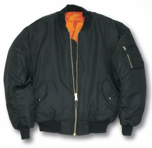 Mil-Com MA1 Flight Jacket - Black: Amazon.co.uk: Sports & Outdoors