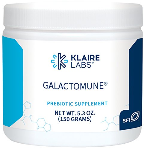 Klaire Labs Galactomune Powder - Prebiotic Beta-Glucan & GOS Immune Support, 5.3 Oz (150 G)