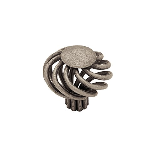 Liberty PN9010-AP-C 40mm Large Wire Swirl Kitchen Cabinet Hardware Knob with Flat Top, Pewter