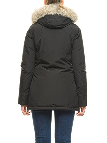 Donna Nero Cappotto Woolrich Woolrich Cappotto wBq408U