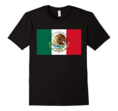Men's Mexico Flag with Coat of Arms T-Shirt 3XL (Flag Coat Arms)