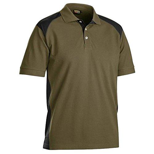 Blakläder 332410502499x S Hemd Polo Größe XS Khaki/Schwarz