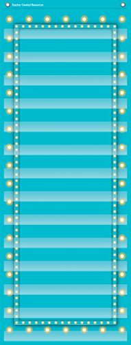 Teacher Created Resources Light Blue Marquee 14 Pocket Chart (13