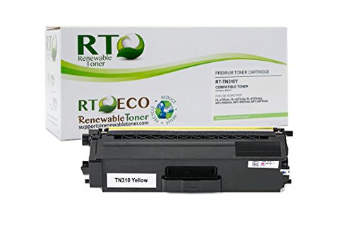 Renewable Toner TN-310Y Brother TN-310 Yellow Laser Toner Cartridge for HL-4150 4570 MFC-9460 9560 9970