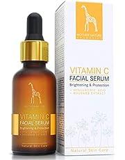 Vitamin C Serum hochdosiert - 20% Vitamin C Anti-Aging Formel mit Hyaluronsäure und Rhabarberextrakt - VEGAN - 30 ml made in Germany - intensive Gesichtspflege, gegen Falten und Pickelmale