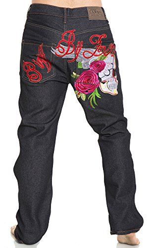 Pizoff Baggy Jeans Exaggerated Embroidery product image
