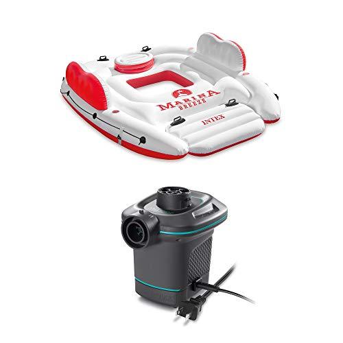 Intex Inflatable Island Float Raft 120V Quick Fill