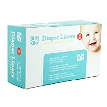 Bumkins Flushable Diaper Liner, Neutral, 100-Pack