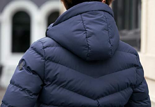 Calda Uomini Trapuntato Addensato Breve 2 Degli Gocgt Giù Soprabito Hoodie Cappotto Inverno pCq5T7nw