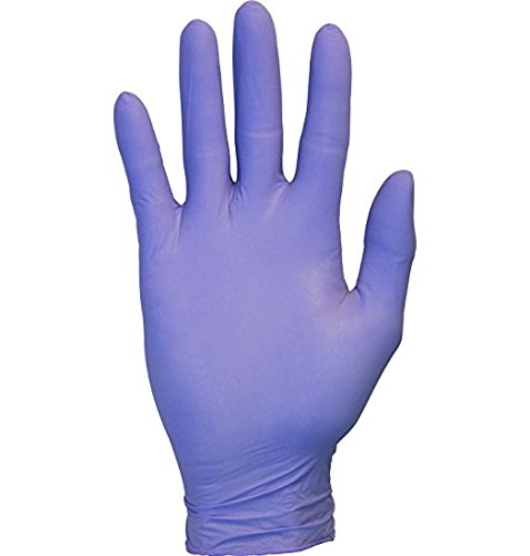 Cornett Nitrile Exam Gloves - Medical Grade, Powder Free, Latex Rubber Free, Disposable, Non Sterile, Food Safe, Textured, Purple Color, Convenient Dispenser. (100, Large) by Cornett