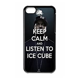 iPhone 5C Case Keep Calm and Listen to Ice Cube Custom Polycarbonate Hard Back Case Cover for iPhone 5C Black-42033