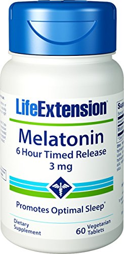 Life Extension Melatonin 6 Hour Time Release 3 Mg 60 Ct Vtabs (Pack of 4)