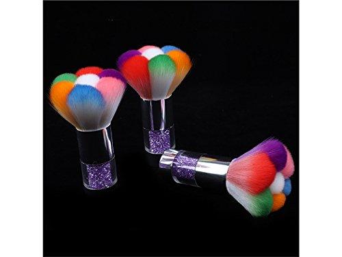 Comestic Creative Nail Super Soft Hair Brush Long Handle Nail Brush Cleaning Brush Tool(Purple) for Women