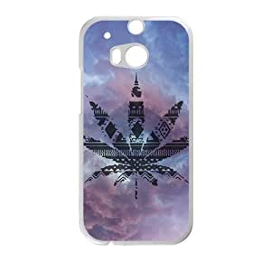 Personalized Creative Cell Phone Case For HTC M8,leaves with sky background