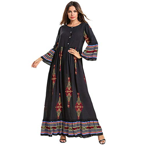 Women Muslim Dress Dubai Kaftan Women Long Sleeve