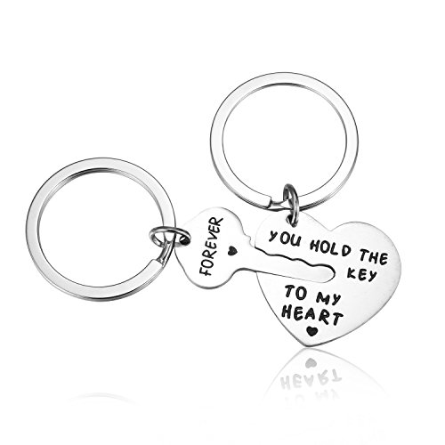 Key My Heart - Udobuy New Unique Stainless Steel You Hold The Key To My Heart Couple Keychain Love Keychain Key Ring Valentine Gift
