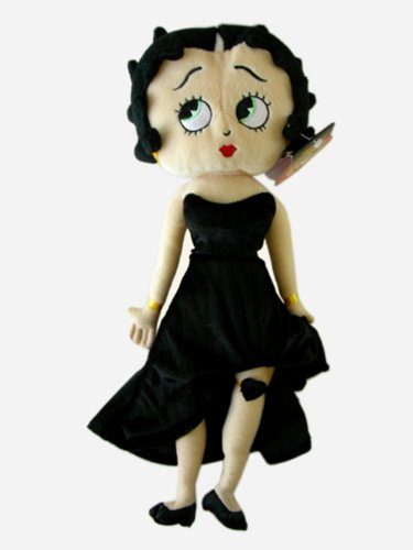 Betty Boop Black Dress - 15 Inch Betty Boop in a Black Dress Stuffed Plush Doll
