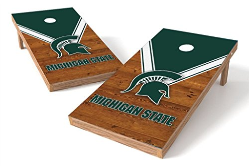 Small Uniform Set University - PROLINE NCAA College 2' x 4' Michigan State Spartans Cornhole Board Set - Uniform