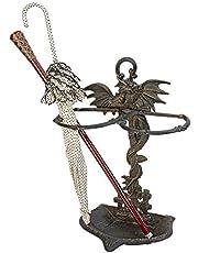 Design Toscano QH9267 Wyvern Dragon Iron Walking Stick Holder