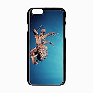 iPhone 6 Black Hardshell Case 4.7inch octopus suckers tentacles Desin Images Protector Back Cover by runtopwell