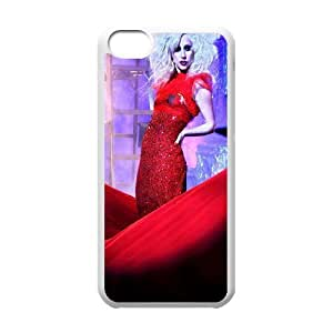 LJF phone case C-EUR Print Lady Gaga Pattern Hard Case for ipod touch 5