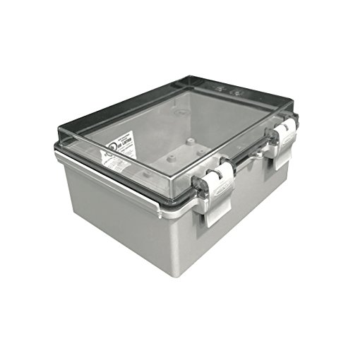 Outdoor Housing Wall - BUD Industries NBF-32412 Plastic Outdoor NEMA Economy Box with Clear Door, 7-55/64